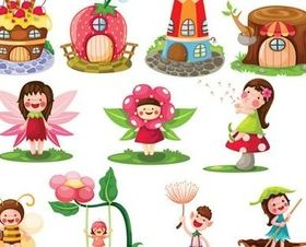 Cute cartoon fairy tale 3 vector