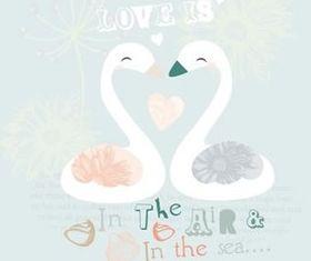 lovely Swan vector design