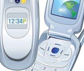 Supplies technology communication mobile phone Illustration vector