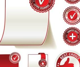 Sale Red Stickers free vector