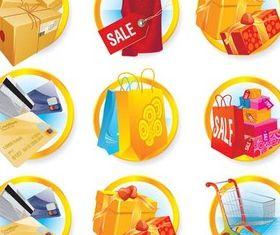 Sale Round Symbols vector