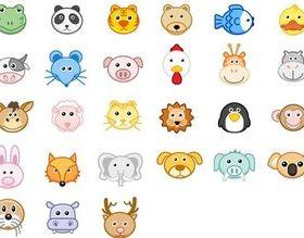 Cartoon animal design vector material