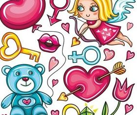 Sweet girl design vector