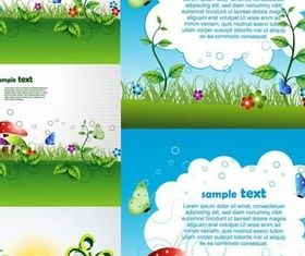 Bright green cartoon background vector