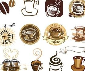 Coffee Labels Vector vector