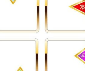 Gold Shopping Frames design vector