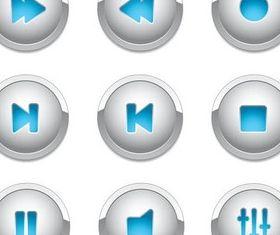 Light Media Buttons Vector vector