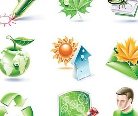 Ecology Icons Illustration vector