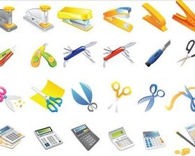 Office accessories Illustration vector