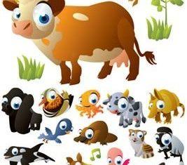 Drawing cartoon image cute animal vector