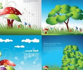 Lovely children comic vectors