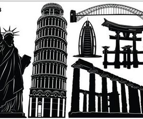 World Attraction Template design vectors