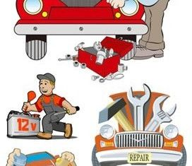 Cartoon car illustrations chart vector graphics