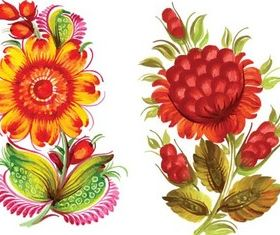 Painted Flowers graphic vectors