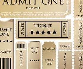 Gold Tickets vectors