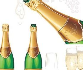 Champagne graphic vectors