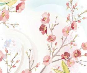 Elegant plum illustration vector