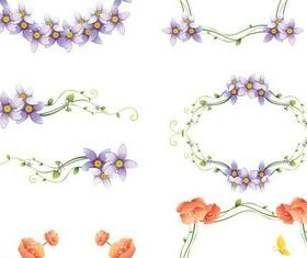 Floral Color Frames vector