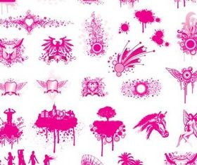 Pink Urban Elements vector graphic