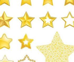 Gold Stars vectors graphic