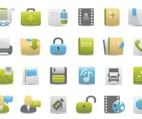 Various Icons free vector