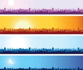 Color Urban Banners vector