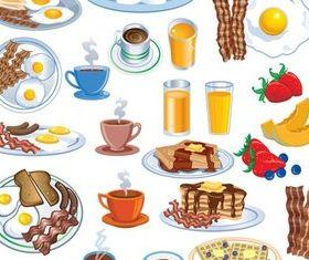 Breakfast Food free vector design