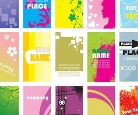 Color Cards graphic vectors
