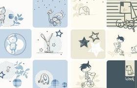 Cute cartoon design ics vector