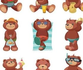 Cartoon toy bear vector