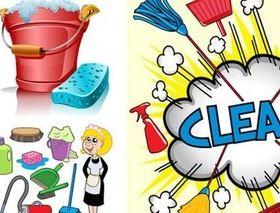 Sanitary appliance comic elements vector