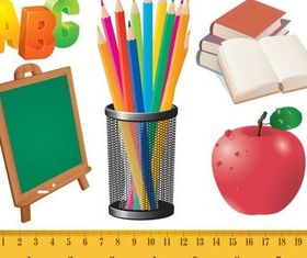 School Items creative vector