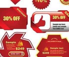 Red Web Labels vectors