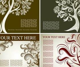 Tree Backgrounds design vector