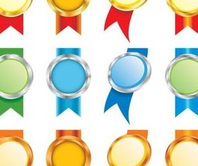 Awards with Ribbons vectors material