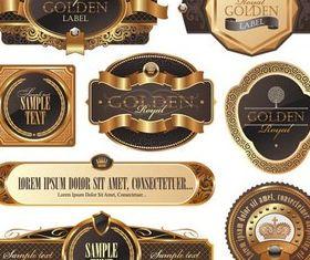 Brown Luxury Labels vector