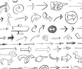 Drawing Arrows Templates vectors
