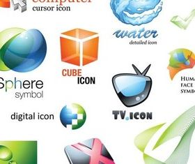 Different Icons Vector creative vector