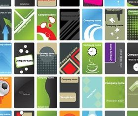 Card Templates Illustration vector