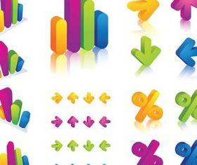 3D Colorful Elements vector