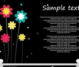 Creative cartoon flower set vector