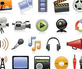 Cinem Bright Icons vector