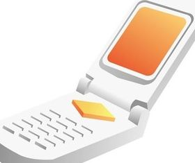Science and technology communication mobile phone 1 shiny vector
