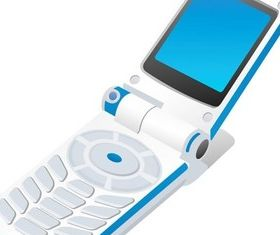 Science and technology communication mobile phone 2 shiny vector