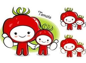 Tomato fruit drawing cartoon vectors graphic