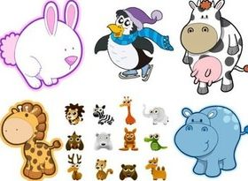Cute cartoon animal design vector
