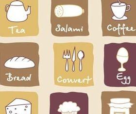 Cartoon breakfast design vector