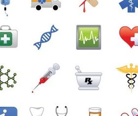 Simple Medical Icons vectors
