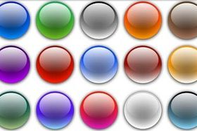 Round Glass Buttons vector
