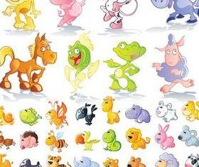 Cute cartoon animal design creative vector